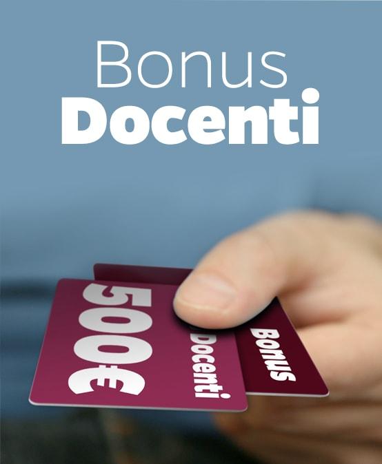Bonus docenti da 500 euro